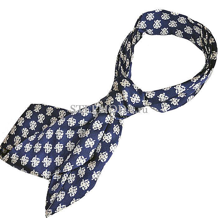 Шелковый узкий шарф в виде галстука фото
