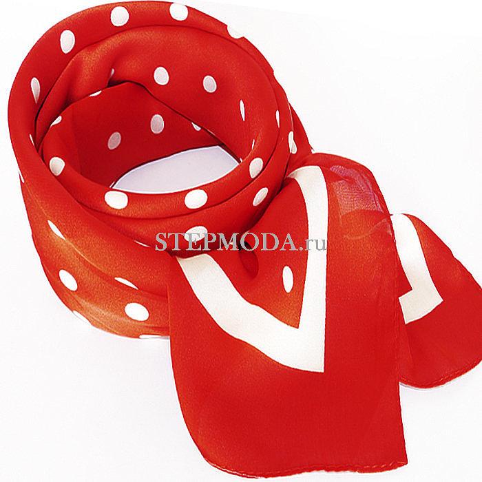 завязать платок французским узлом на шею