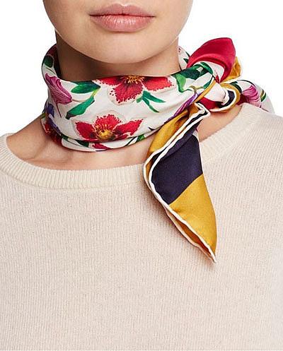 как красиво завязать платочек на шее фото
