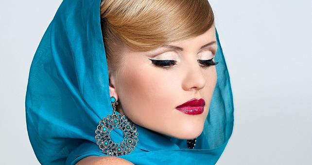 платки на голову фото красиво