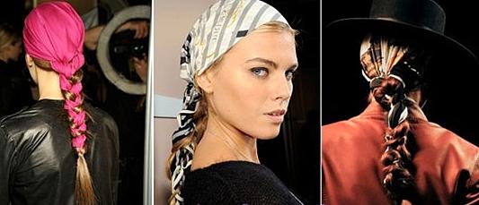 украшение платком волос фото