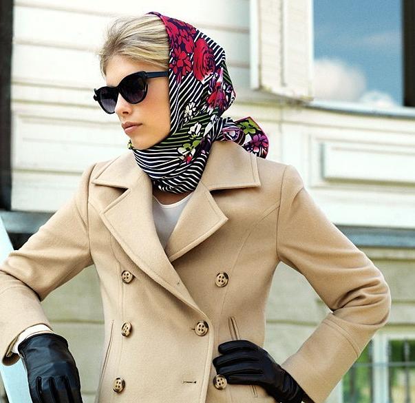 красиво завязанный платок на голове фото