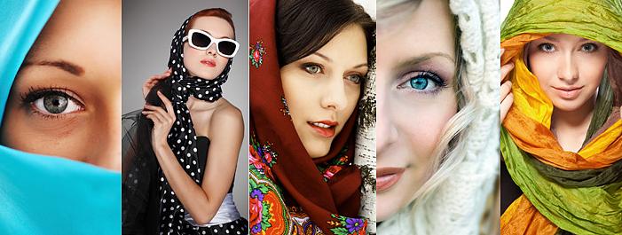 как завязывать шарфы платки палантины стильно