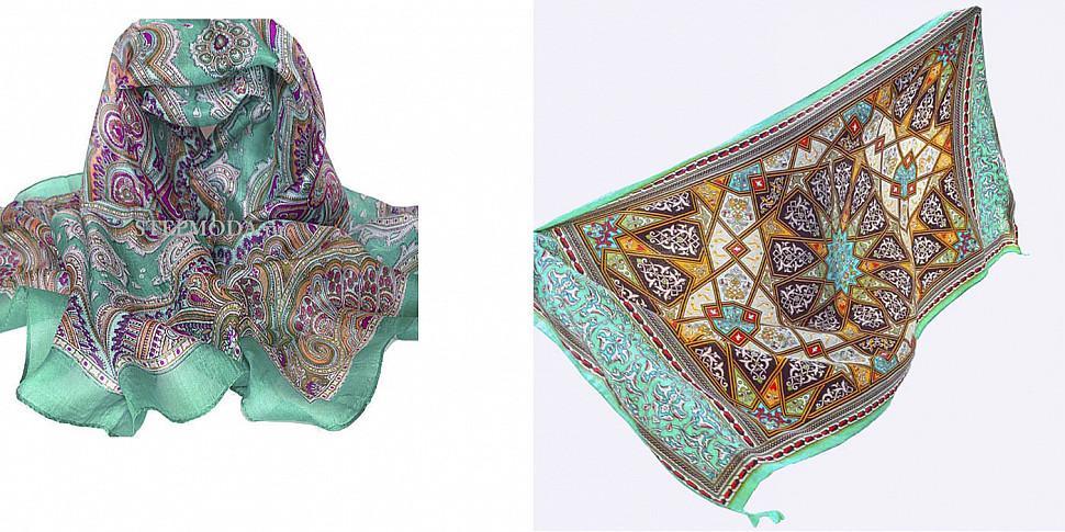 платок с рисунком в стиле этно