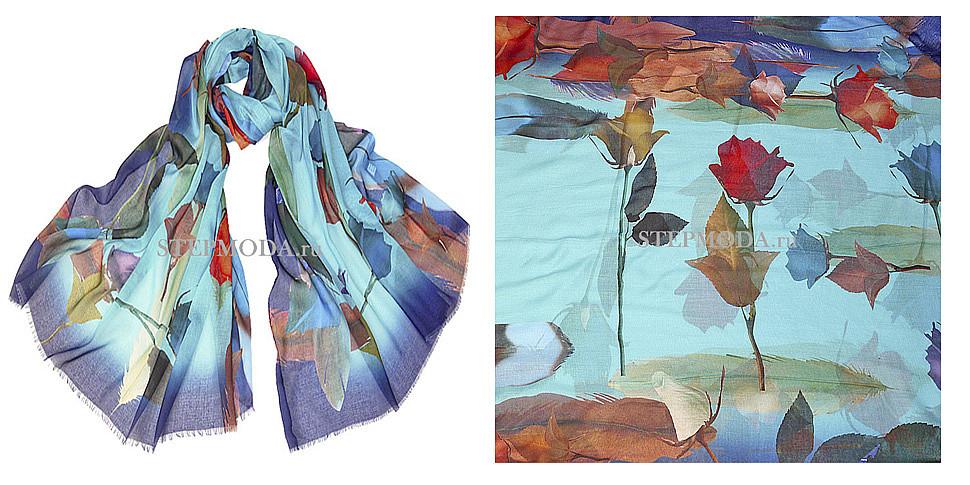 шелковый шарф фото