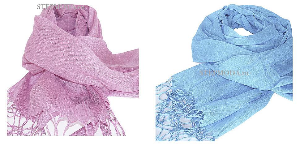 льняной шарф фото