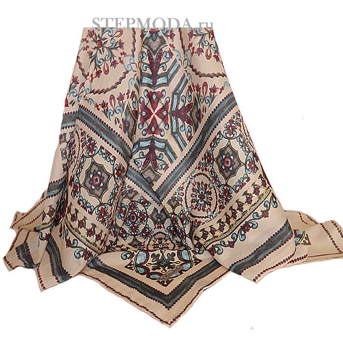 платок на шею с бусами